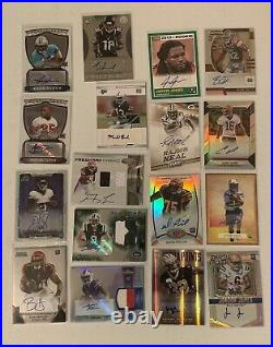 147-Autograph & Game Used Football Cards Lot