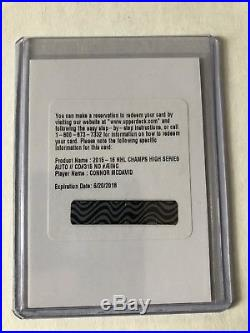 15/16 Champs Hockey Connor Mcdavid Rookie Auto Redemption SSP Rare Wow