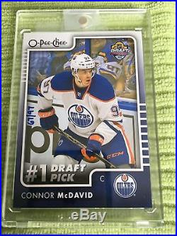 15/16 OPC #1 DRAFT PICK PUZZLE REDEMPTION CONNOR MCDAVID ROOKIE CARD 67/97