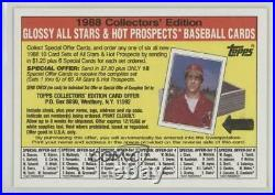 1988 Topps Glossy All-Stars Redemption Insert Jack Clark (Cards Not Included)