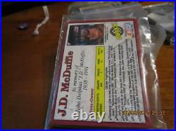 1992 MAXX 3d redemption cards J. D. McDuffie in memory card unopened