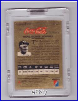 1993 Coca-Cola Gold #NNO Honus Wagner 24kt RARE! With Redemption