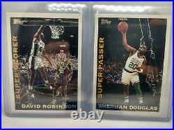 1994-95 David Robinson Sherman Douglas NBA Topps Own The Game Redemption Cards