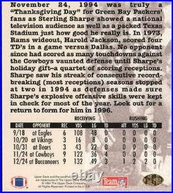 1994 Collector's Choice Crash the Game Gold Redemption Football Card #C24 Sharpe