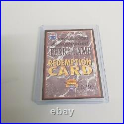 1994 Dynamic Rugby Signature Redemption Cards Signed Terry Lamb Mel Meninga RARE