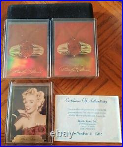 1995 Sports Time Inc. Marilyn Monroe Ruby Card With 2 Redemption Cards And Case