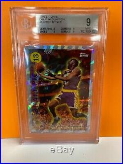 1996-97 Topps Draft Redemption #13 Kobe Bryant Lakers RC Rookie BGS 9 Mint