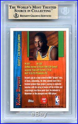 1996-97 Topps Kobe Bryant Draft Redemption Rookie BGS 9.5 with 2 10 Subs
