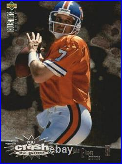 1996 Collector's Choice Crash The Game Silver Redemption Card #2 John Elway