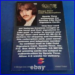 1996 Sports Time Beatles REDEMPTION Card RINGO STARR RARE Signature Series LOOK