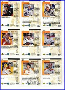 1997-98 Collectors Choice Swedish Crash The Game Redemption Complete 30 Card Set