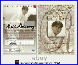 1998/99 Select Cricket Retail Trading Cards Neil Harvey Signature + Redemption