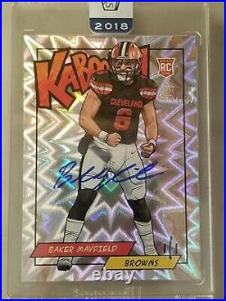 1/1 Baker Mayfield RC KABOOM 2018 Panini Honors Kaboom One of One 1 of 1
