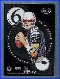 2000 TOM BRADY MARC BULGER Playoff Contenders Rc Auto Round Numbers Redemption