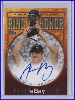 2001 Topps Aaron Rodgers Ring Of Honor Redemption Auto Autograph Packers Rare