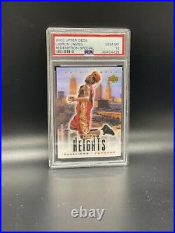 2003 Upper Deck Lebron James City Heights Redemption Special Rookie Card PSA 10