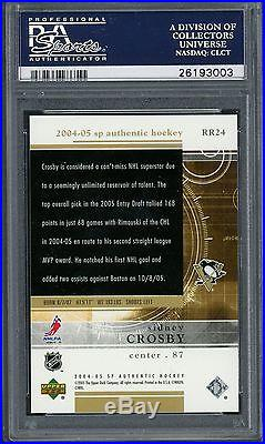 2004-05 SP Authentic Redemption Hockey Sidney Crosby RC Rookie /399 PSA 10