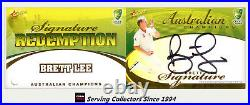 2007-08 Select Cricket Cards Signature Redemption Card SS5 Brett Lee-Rare