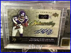 2007 Adrian Peterson Gold Holofoil 1/1 Rc Auto Holy Grail Rookie Bgs 9/10 Pop 1