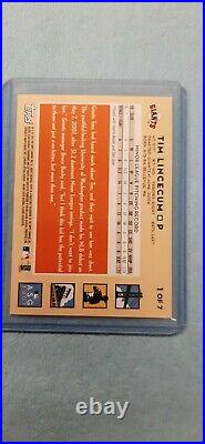 2007 Topps Tim Lincecum RC MLB All-Star Game Fan-Fest Redemption ROOKIE Card #1
