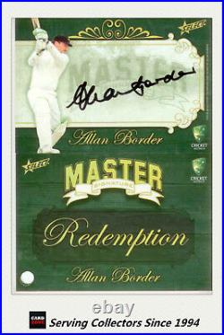 2009-10 Select Cricket Cards The Masters Signature Redemption Alan Border-Rare