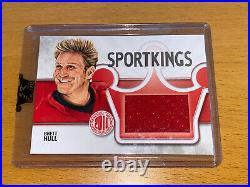 2010 Sportkings BRETT HULL game-used jersey /9 National Redemption