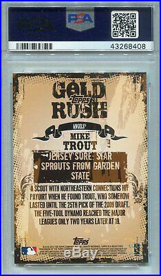 2012 Topps Gold Rush Wrapper Redemption Mike Trout Angels PSA 10 GEM MT