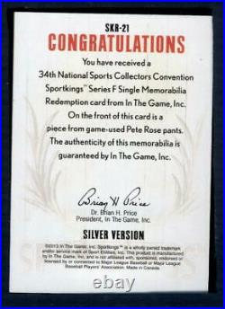 2013 In The Game 34The National Sportkings Redemption Card Series F #SKR-21 Pete