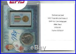 2015 Topps Mike Trout Birth Year Coin Auto redemption card #d/10
