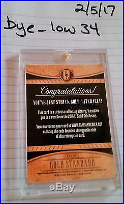 2016-17 Panini Gold Standard Karl-anthony Towns 14k Solid Gold Redemption 1of1