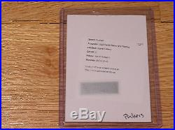 2016 Plates & Patches Aaron Rodgers Signal Callers Auto Redemption /10 SSP