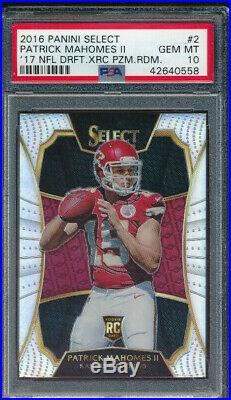 2016 Select'17 NFL DRAFT XRC REDEMPTION RC Patrick Mahomes II Silver PSA 10
