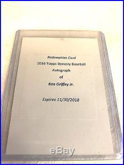2016 Topps Dynasty Baseball Ken Griffey Jr Auto Patch Redemption Card (Unused)