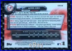 2017 Aaron Judge bowman chrome green auto refractor #66/99 1/1 Redemption Rc