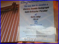 2017 Bowman Chrome Aaron Judge Gold Refractor Auto /50 Redemption Card Unused