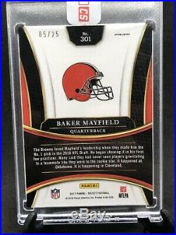 2017 Select Tie-Dye XRC #301 Baker Mayfield RC #/25 with redemption card 2016 1/1