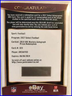 2017 Select XRC MYSTERY AUTO 3 Prizm Redemption 3rd Draft Pick Auto