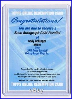 2017 Topps Chrome Update Cody Bellinger Gold Refractor Auto Redemption