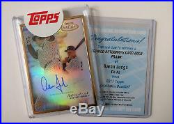 2017 Topps Gold Label AARON JUDGE Rookie Auto RC Card SSP + USED Redemption MINT