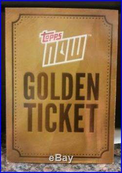 2017 Topps Now Golden Ticket redemption 1/1 cards all from 9/15/17