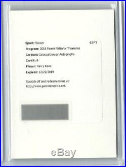 2018 Harry Kane Panini National Treasures Colossal Jersey Auto Redemption /25
