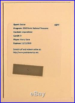 2018 National Treasures Harry Kane Auto /50 Unparalleled Autograph Redemption