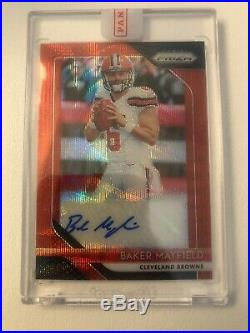2018 Prizm Baker Mayfield Red Wave Rookie Auto /199 Sealed Clean Browns Rare Sp