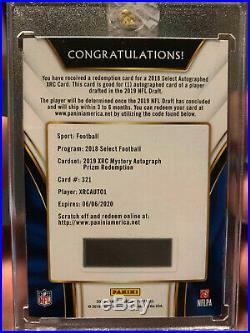 2018 Select Kyler Murray XRC #321 Mystery Redemption Prizm Autograph /49
