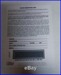 2018 Topps Chrome Ronald Acuna Blue Wave Refractor Auto Unused Redemption