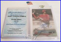 2018 Topps Clearly Authentic Autograph Auto Redemption Shohei Ohtani RC CAA-SO