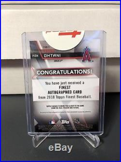 2018 Topps Finest Mystery Redemption Shohei Ohtani Refractor Autograph /99
