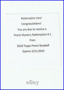 2018 Topps Finest Mystery Redemption Signed Auto SP 11390 Ohtani Acuna Torres