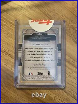 2018 Topps Five Star Juan Soto RC Purple Auto /50 Sealed Redemption Nationals