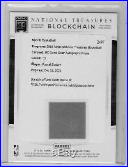 2019-20 National Treasures Pascal Siakam BC Game Gear Auto Prime Redemption (WI)